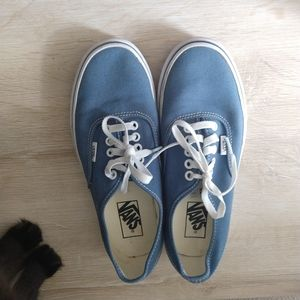 Vans blue and white shoes size 7M/8.5W